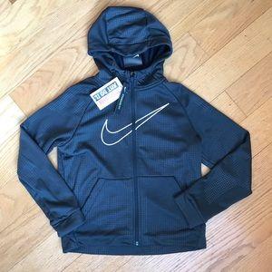 NWT Nike dark gray medium weight hoodie